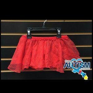 🌸💲4) Carters Ballerina Dance Red Tulle Skirt 3T